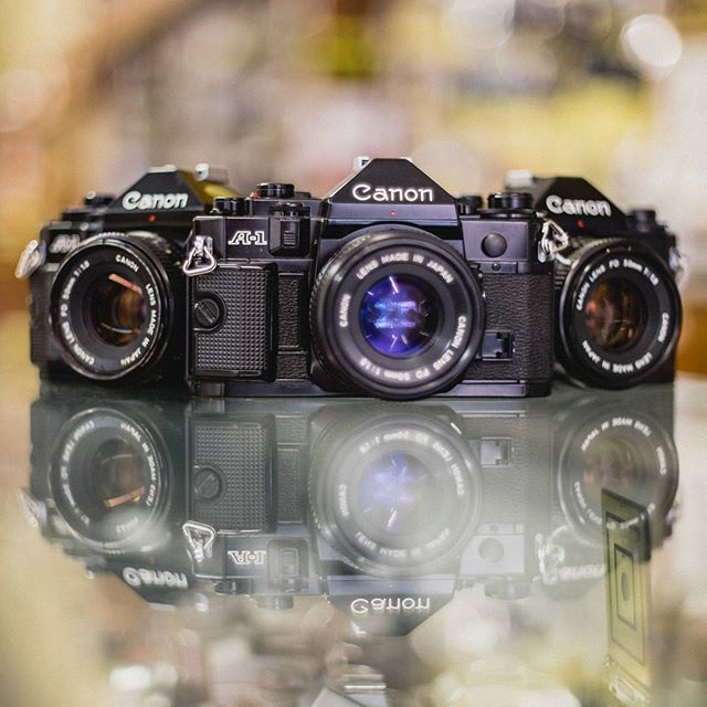 #squadgoals We've actually got five Canon A-1 bodies with FD 50mm f/1.8 lenses for only $149.99 each! All are in great shape and come with 90 day warranties like all of our used equipment!  #vintagecamera #classiccamera #Canon #CanonA1 #CanonFD #35mm #35mmfilm #filmcamera #shootfilm #believeinfilm #filmisnotdead #buyfilmnotmegapixels #staybrokeshootfilm #MolersCamera #Wichita #igwichita #hellowichita #ICT #DDDICT
