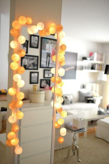 Aleja Kwiatowa - blog wnętrzarski - dekoracje do domu: Girlandy ledowe, kule, cotton bals