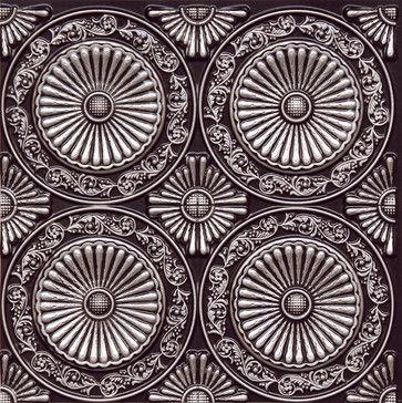 "Paisley Daisies - Faux Tin Ceiling Tile - Glue up - 24""x24"" - #235 - traditional - Ceiling Tile - Decorative Ceiling Tiles, Inc."