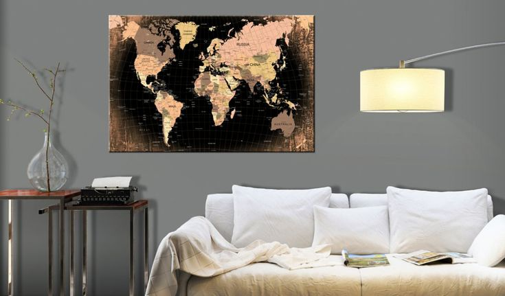 Obraz na korku - Planet Earth #mapart #domov #decor #korek #design #travel #pin #wall #cork #black