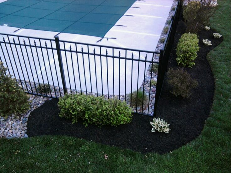 139 best images about h2o zone on pinterest - Pool fence landscaping ideas ...