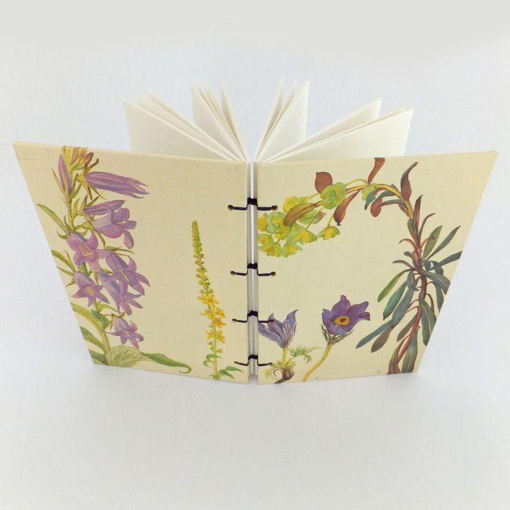 Spring Journal, Botanical Notebook, Bluebells,  Purple, lilac Flowers, Garden Notebook, Sketchbook, Nature Notebook, Gratitude Journal by PeonyandThistle on Etsy https://www.etsy.com/uk/listing/534815608/spring-journal-botanical-notebook