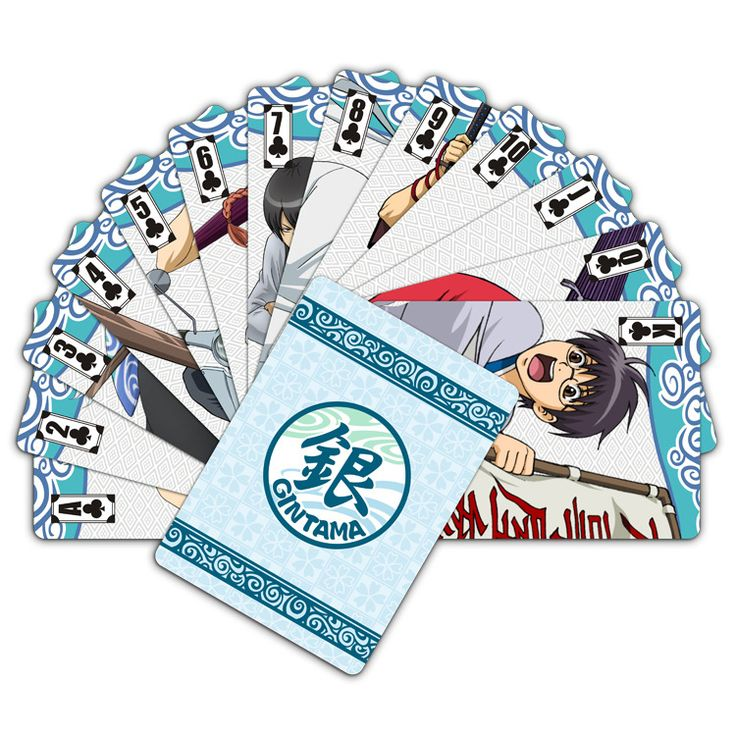 Anime poker gintama 54 pcs playing cards sets cards