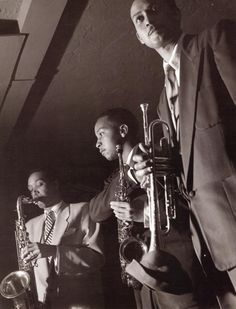 Wardell Gray, Frank Morgan & # Ernie Royal, Los Angeles, 1951. Photo by William Claxton