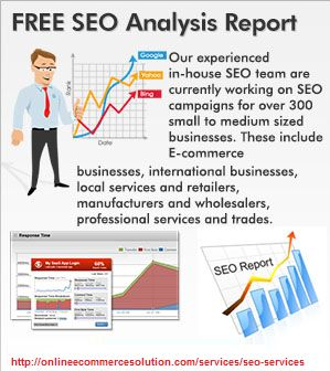 Online Seo Solution We offer Online Seo Solution with reasonable price. Just give us a call and we can boost up your website rankings on search engines. We are working for strategic SEO solutions, improving visitors. Seo services matters if you need success so now contact us for increase your website ranking. http://onlineecommercesolution.com/services/seo-services/