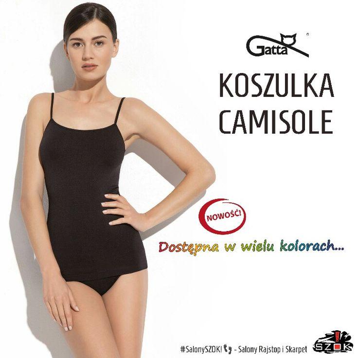 🔴 #Niezbędna w każdej #damskiej #garderobie, #klasyczna #koszulka #Camisole firmy #Gatta na cienkich #ramiączkach. Dostępna w szerokiej gamie #kolorystycznej ➡ #SalonySZOK!👣