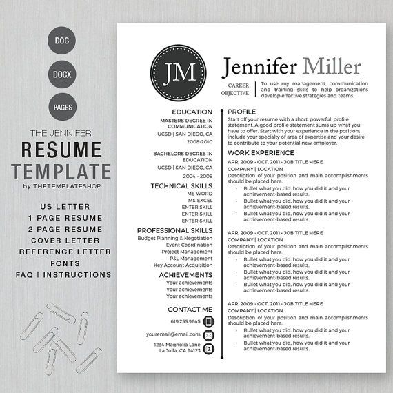 10 best james bond leonard resume template images on pinterest iwork pages resume templates - 2 Page Resume Template
