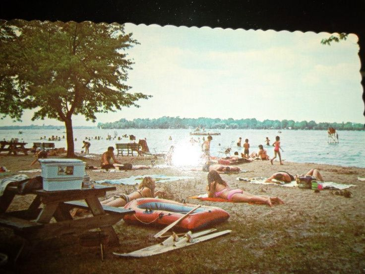 A photo of an old postcard I have of Bass Lake, Indiana!