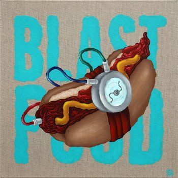 Blast Food by Carl Kenz (2017) Painting Acrylic on
