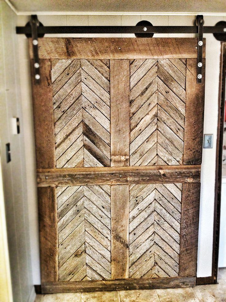 114 best barn doors images on pinterest doors interior - Reclaimed wood interior barn doors ...