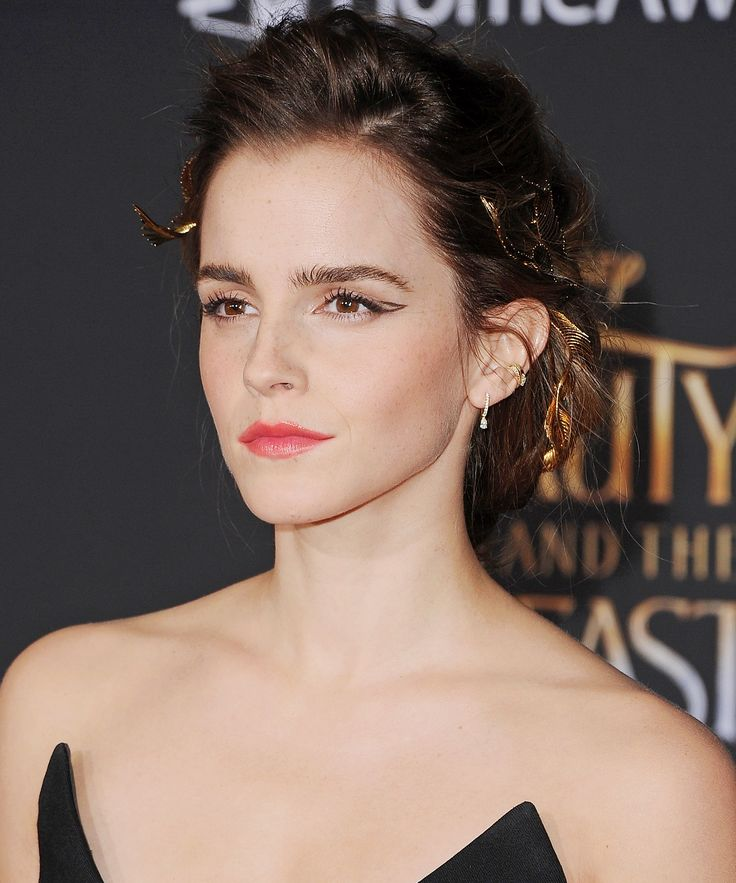 Celebrity Cat Eyes That Will Make You Hoard Liquid Liner - Emma Watson from InStyle.com