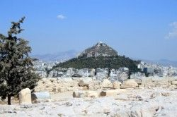 At 900 feet high Mount Lykavittos - the twin-peaked, and pine-covered hill is the highest hill in Athens and is visible from all over the city