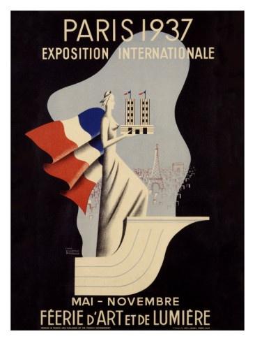 Exposition Internationale, Paris, 1937.Vintage Posters, Paris Vintage, Expo 1937, Deco Paris, Vintage Ads, Travel Posters, Exposition International, Art Deco, Paris 1937