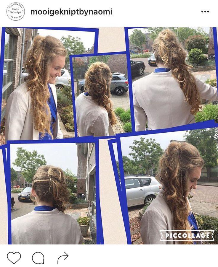 Long hair curls vlecht