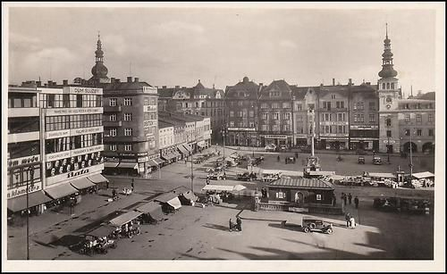 Ostrava, Masarykovo náměstí 1945