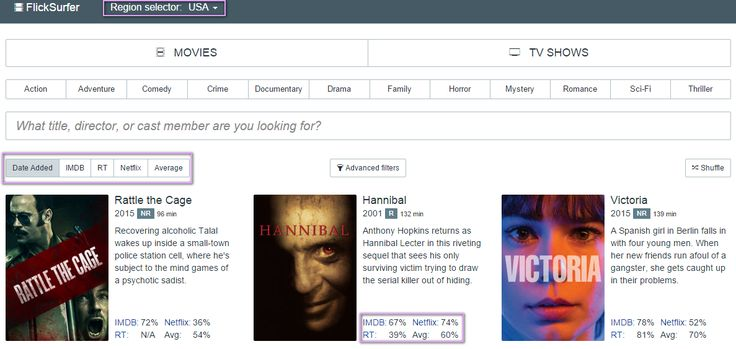 Much like instant watcher, FlickSurfer makes it easier to find top-rated movies and shows. You can easily see IMDB, Rotten Tomatoes and Netflix ratings to help you make a winning selection.