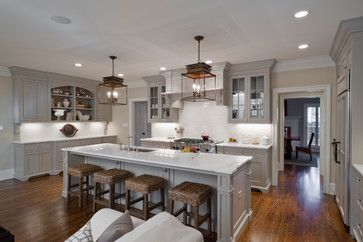 houzz kitchens with copper  | traditional kitchen 25 Glamorous Gray Kitchens