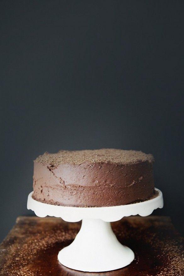 Lea Michele's Decadent Birthday Dinner Menu // Chocolate Devil's Food Cake