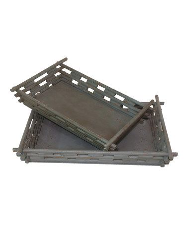 Another great find on #zulily! Slotted Tray Set #zulilyfinds