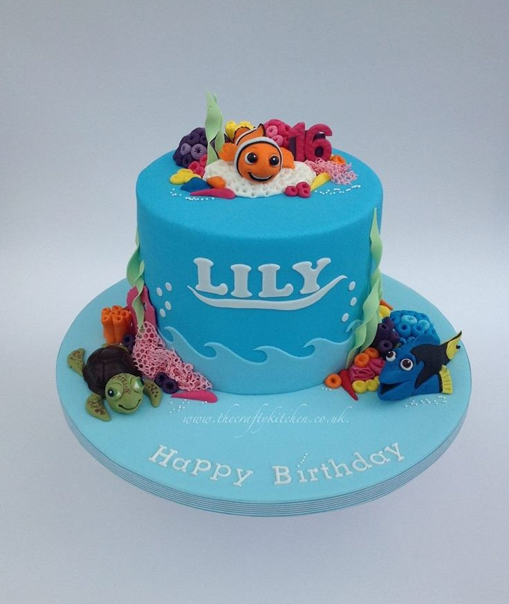 15 best Finding Nemo Cakes images on Pinterest Cakes Disney