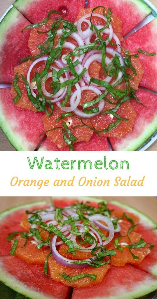 Watermelon Orange and Onion Salad with a Balsamic Vinaigrette. The perfect side salad for a summer day. Or you can add a little feta cheese for a nice mid summer day lunch. Click to read the full recipe  @venturists