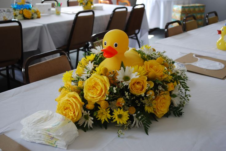 Baby Shower, Rubber Duck, Centerpieces The main centerpiece for my daughters baby shower!