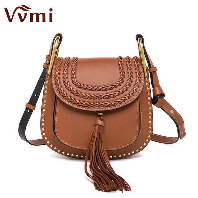 Vvmi marca 2016 las mujeres bolsos de mensajero clásico borla de la vendimia tejidas silla armadura solo hombro crossbody bolsas elegante bolso de la señora