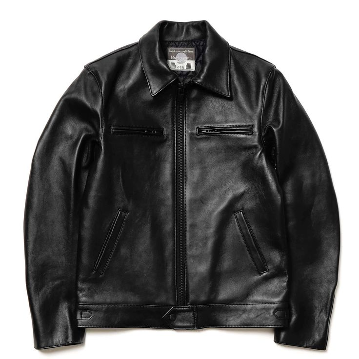 blackmeans Quilted Sheep Leather Biker Jacket