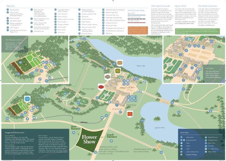 Blenheim Palace Map Woodstock Oxfordshire England