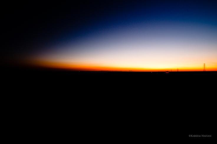 Sharm el sheikh road during sunset. Egypt