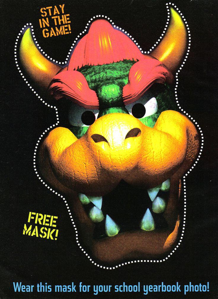 Bowser Mask Robert S Pins Pinterest Nintendo