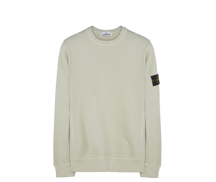 Stone Island Garment-Dyed Sweatshirt - Cream