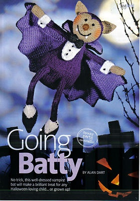 *~Alan~Dart's~Halloween~Bat~Toy~Knitting~Pattern~*