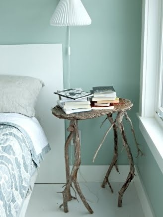 DIY driftwood night stand - For some reason, this makes me laugh! LOL