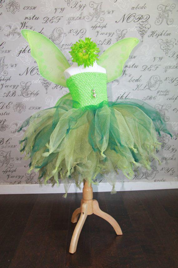Tinker Bell Disney Princess Fairy Tulle Tutu Dress-up Halloween Costume Flower Girl Dress Wedding Children Toddler Infant Custom Crochet on Etsy, $53.66 AUD