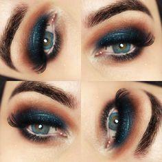 Maquiagem azulada com lente de contato colorida da Alcon – Air Optix Colors