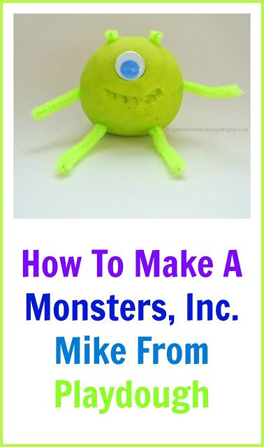 Frogs and Snails and Puppy Dog Tail (FSPDT): Playdough Mike From Monsters, Inc. fun toddler activity