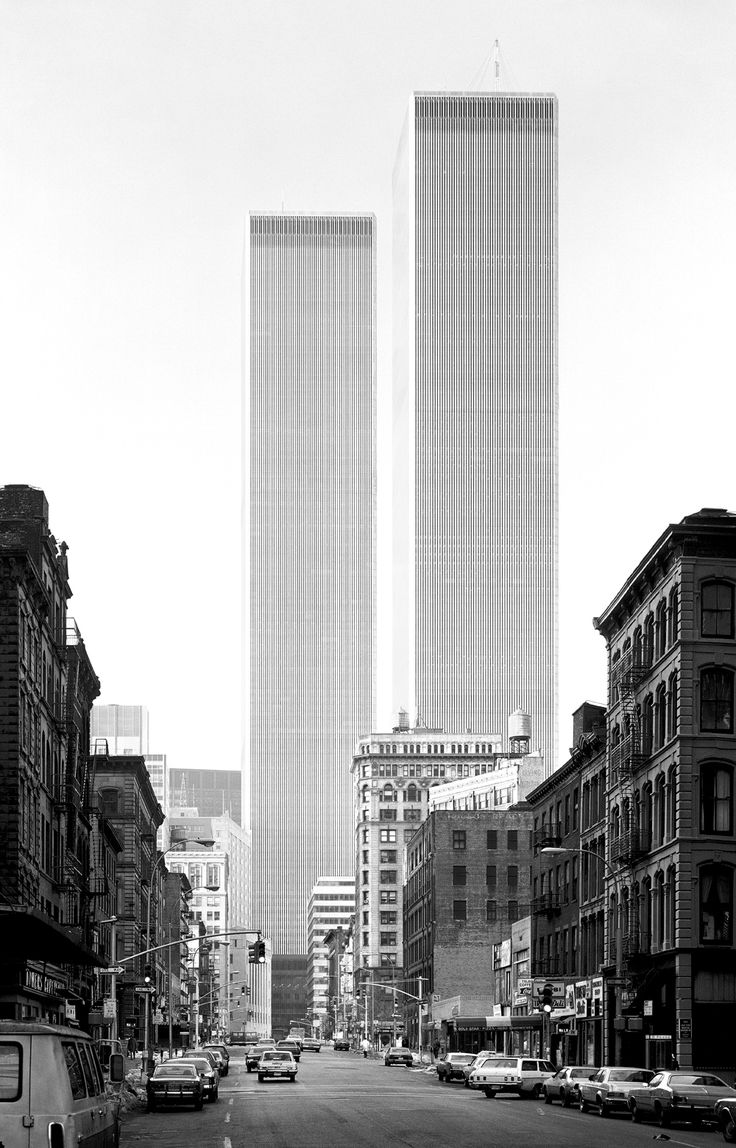 ☆ World Trade Center, Minoru Yamasaki, New York, 1971 – Balthazar Korab