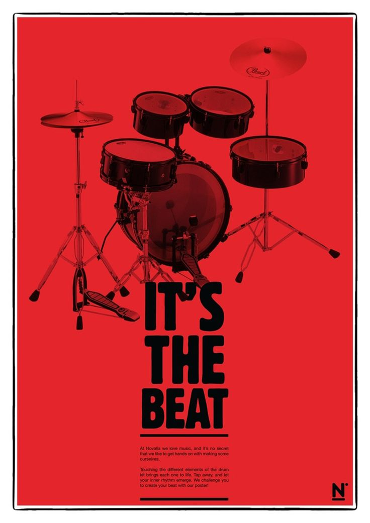 Poster interativo. #drums #poster