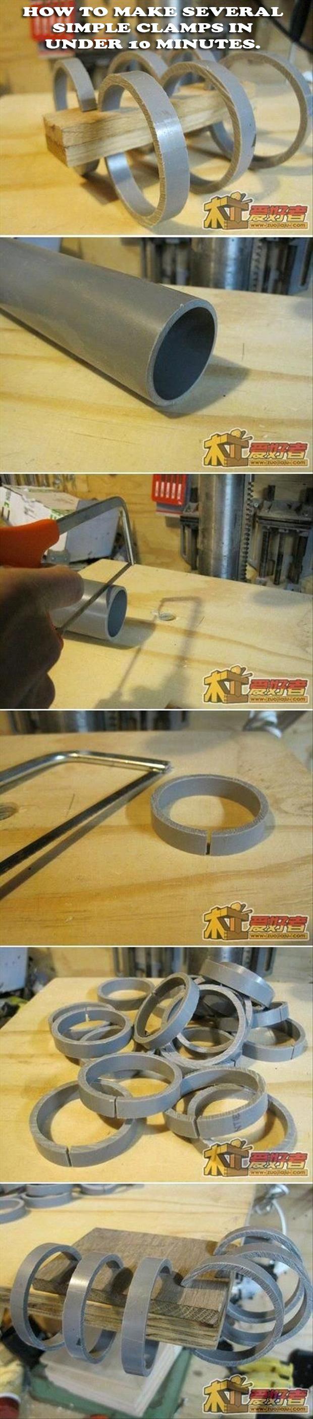 PVC clamps.