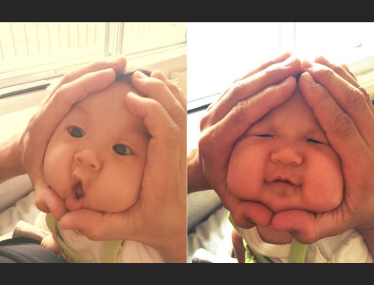 You never disappoint us with your weirdness, Japan. In #RiceBallBabies, a meme that's become insanely popular in Japan, parents squish their babies' faces