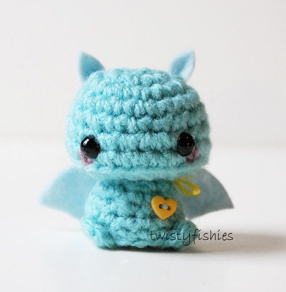Baby+Blue+Bat++Kawaii+Mini+Amigurumi+Plush+by+twistyfishies