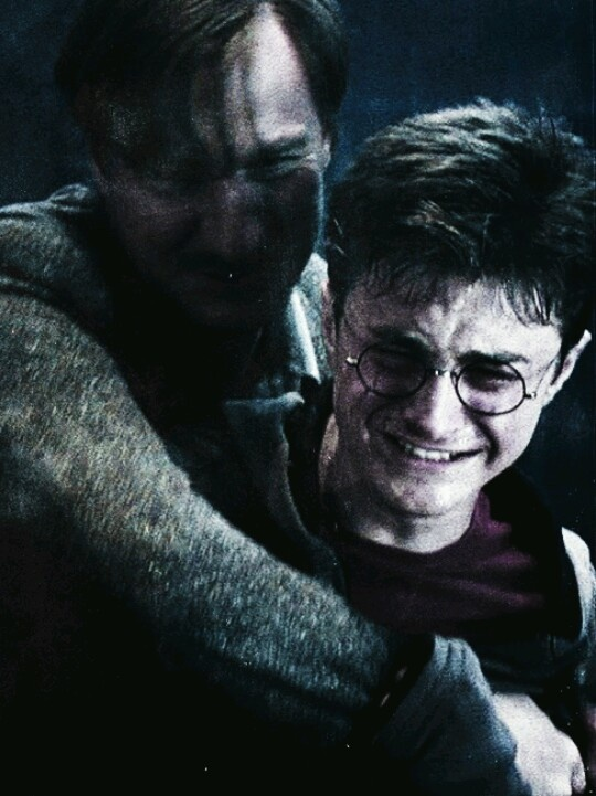 Everyone feels so bad for Harry in this scene but nobody looks at Lupins face... he just lost his last remaining best friend who accepted him for all he was, sure he has the order but he knew Sirius from a boy and know he's gone {{ TOO MUCH FEELS