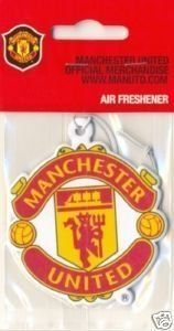 Manchester United Air Freshener by Home Win. $6.45. Manchester United FC. Manchester United FC Car Air Freshener. Official Product. This Manchester United Air Freshener is an official product and is produced under licence for Manchester United Football Club. The Air Freshener features a large crest on both sides. It has an elasticated string which makes it easy to hang in the car, around the house or in the office. Although this air freshener does not have to...