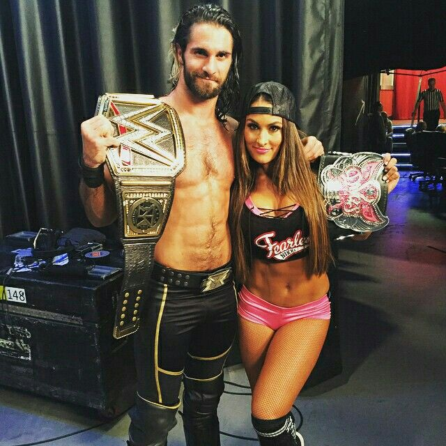 Two good-looking WWE champions