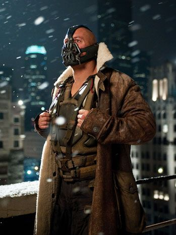 Bane--He did such a fantastic job in this role. Doing such a superb job while wearing a mask that almost completely obscures his face is just phenomenal.