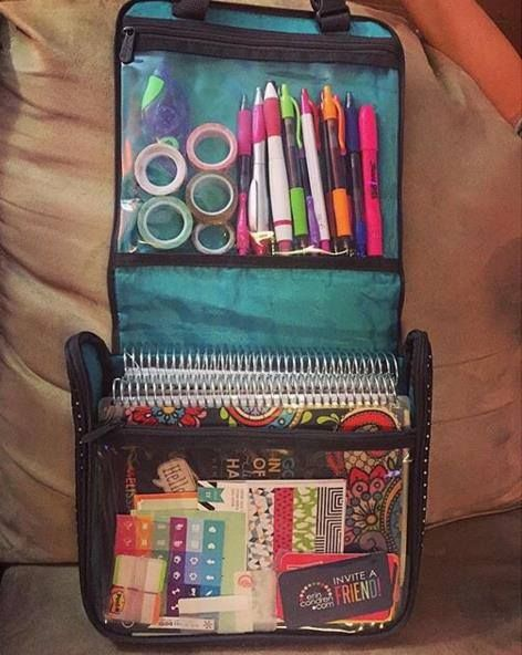 The Hanging Traveler Case as a planner holder!