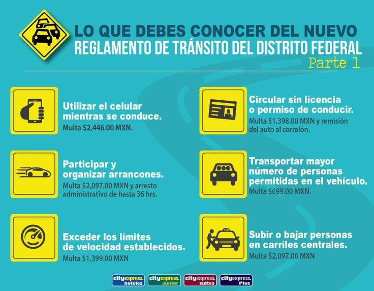 Nuevo reglamento de tránsito #infografia #CdMx ParteI #Autos