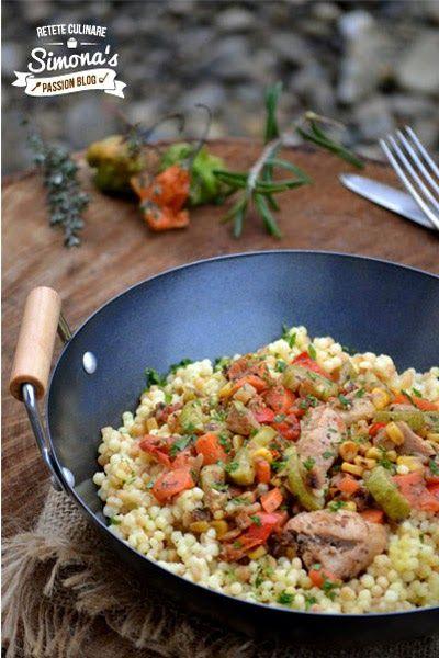 Couscous cu pui si legume picante http://www.simonapatras.com/2015/01/couscous-cu-pui-si-legume-picante.html