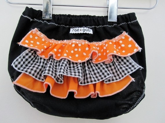 jack o lantern ruffle diaper covers costume halloween by raegun 1350 - Diaper Costume Halloween